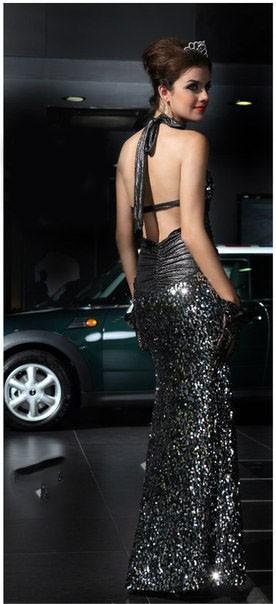 86c0cd70522 Купить женское длинное платье блестящее длинна в пол с открытой ...