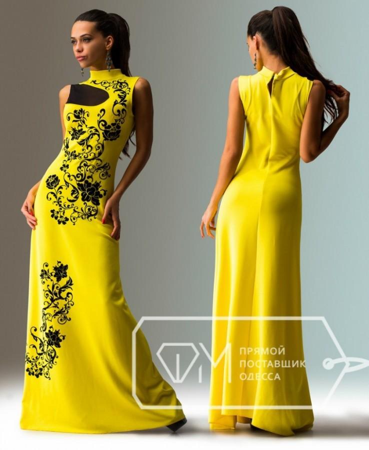 Платье желтого цвета фото
