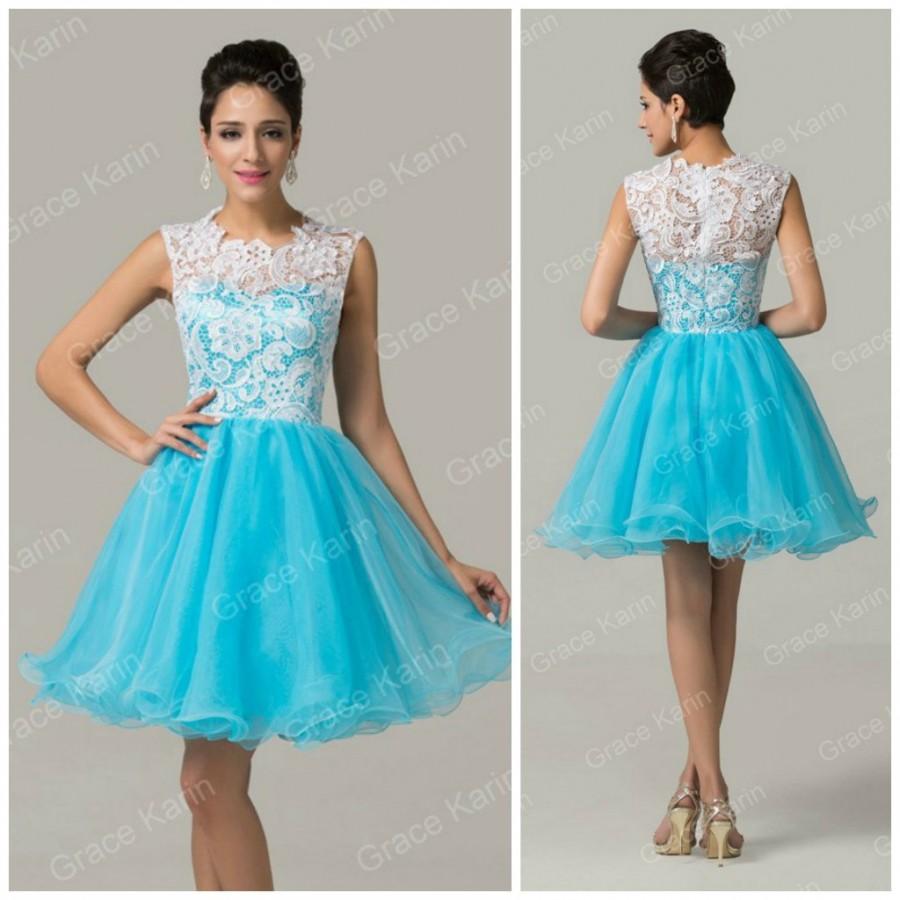 Купить Платье Голубое Пышное