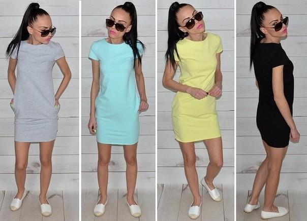 188b5c0163d Купить повседневные прямые практичные короткие платья разных цветов