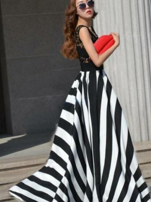Атласные платья в полоску