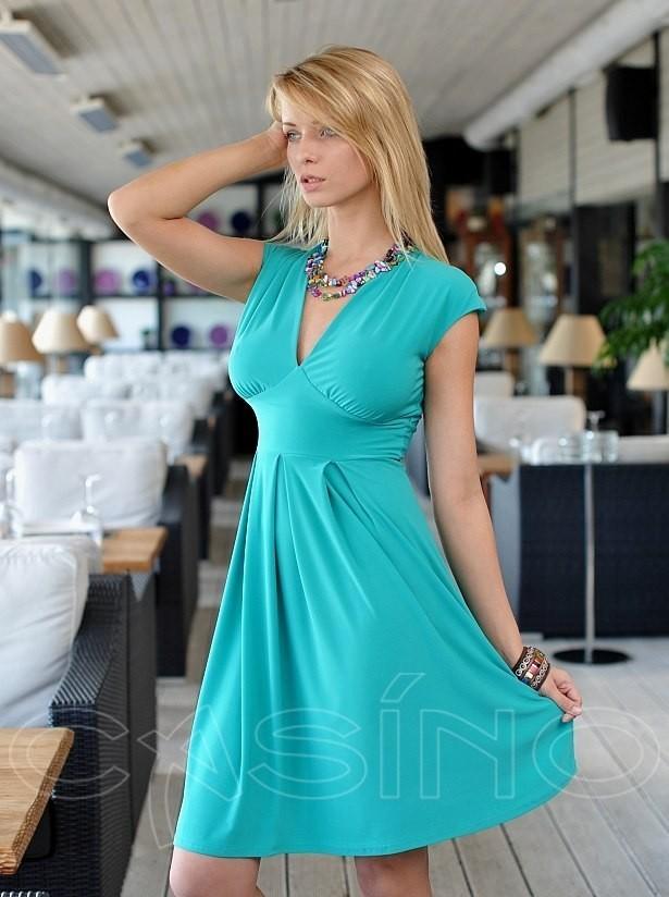 Купить бирюзовое коктейльное платье