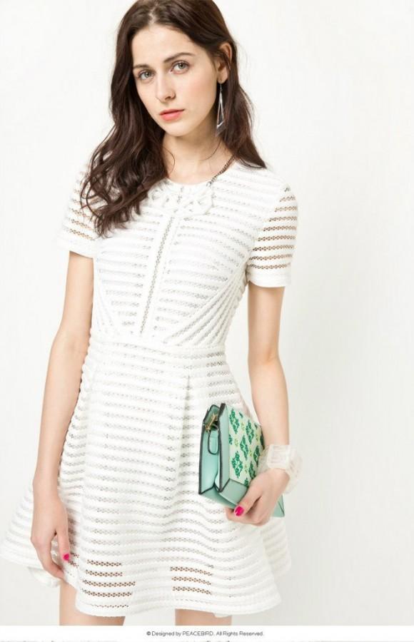 Купить легкое белое платье