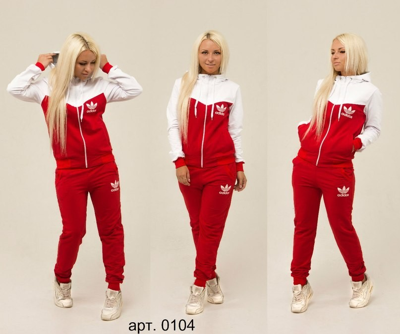 b3e55a11 женский спортивный костюм найк ( NIKE ) красного цвета с белой вставкой