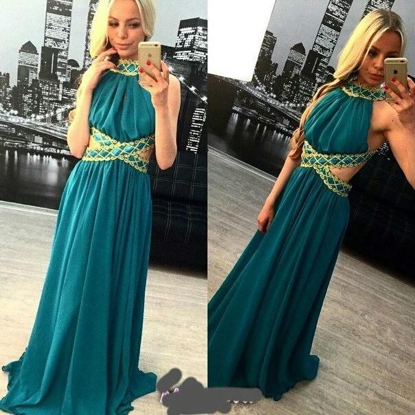 31f07e4836f Купить женское вечернее платье тёмно-зелёного цвета в пол новая ...