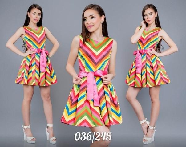 Фото цветных платьев коротких