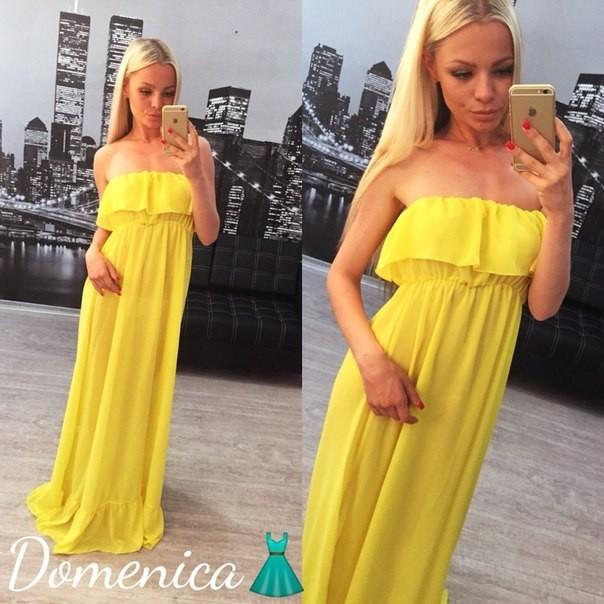 Желтое шелковое платье — главный хит сезона изоражения