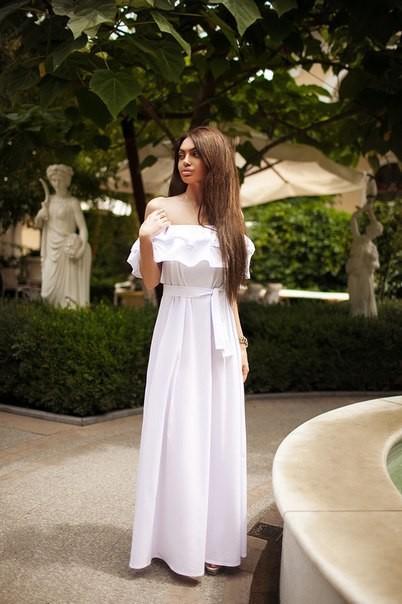 Платье с воланами длинное купить
