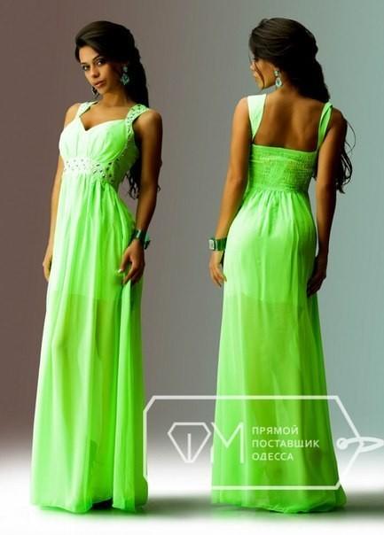 Вечерние платья салатового цвета