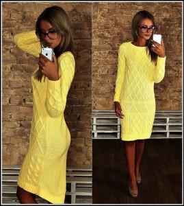 Купить платье ниже колена вязаные