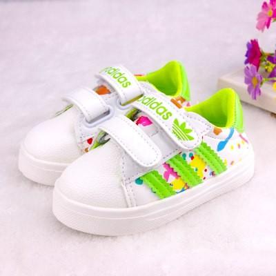 f184fc4c Заказать кроссовки adidas для детей с зелеными полосками в магазине ...