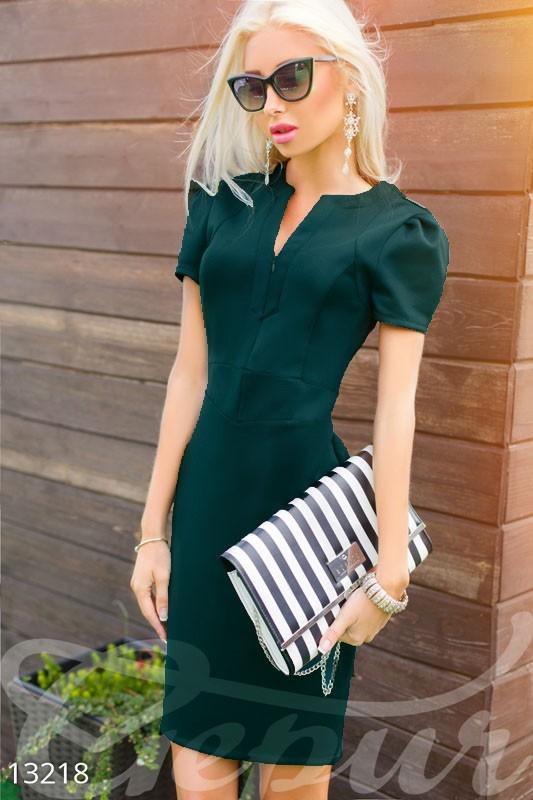 44931251f5962fe Купить оригинальное деловое прямое платье до колен с рукавами фонариками