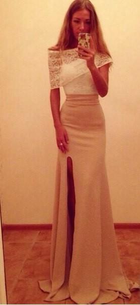 Платья вечерние с разрезом на ноге купить