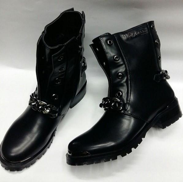 76d82aa12 Купить комфортные черные ботинки с цепью molly bessa дешево