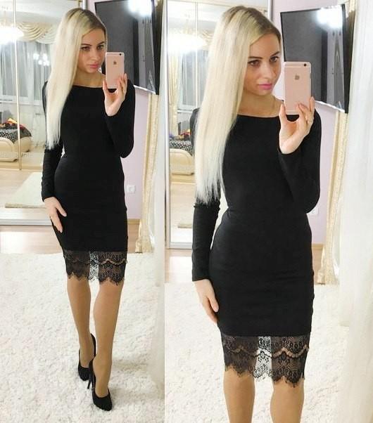 Красивое строгое платье фото