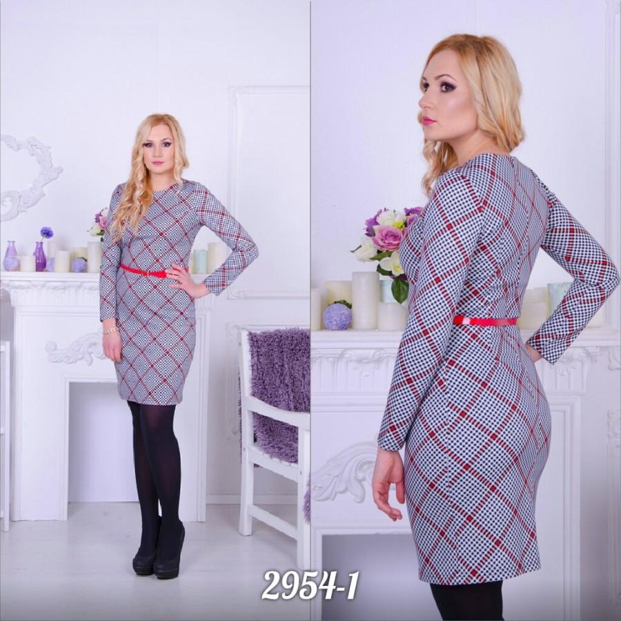 661116389f6 Заказать строгое деловое платье в клетку с длинными рукавами не дорого