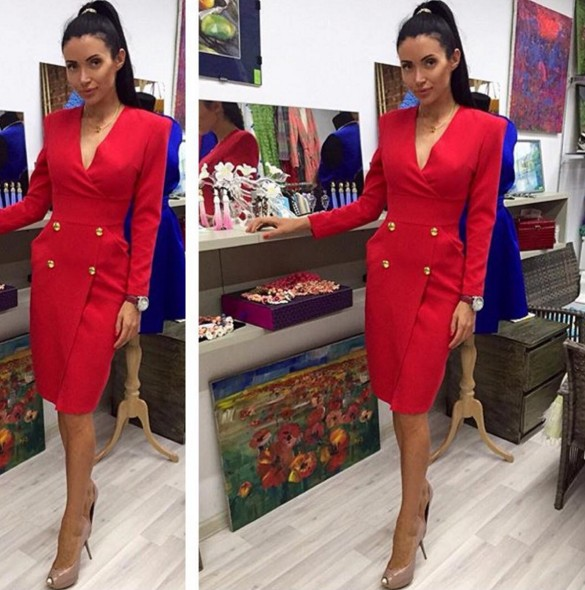 f5610f5b822 Заказать стильное красное платье из трикотажа