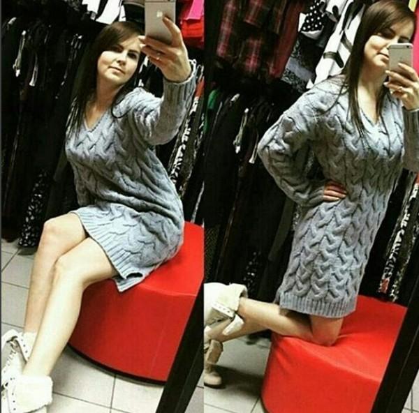 32ca065153e Купить шикарное теплое платье-свитер в косичку в наличии с доставкой