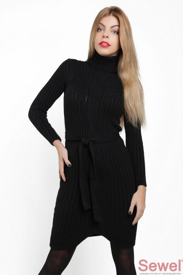 aa6b581ea8a черное красивое теплое платье с высоким воротником и длинными рукавами