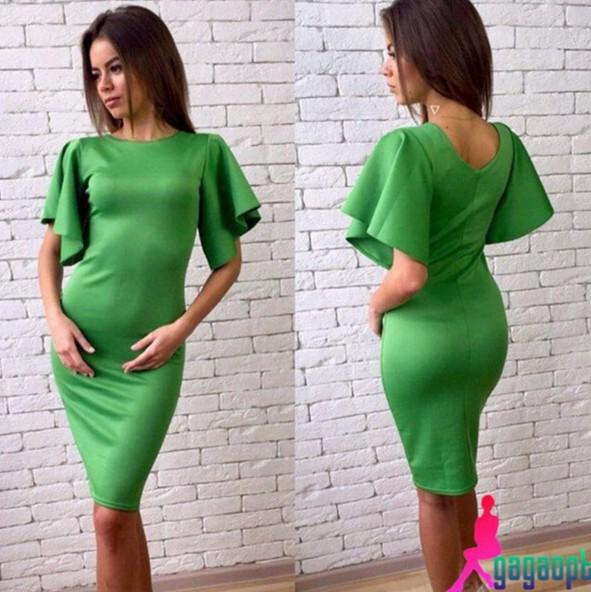 Платья салатного цвета 23