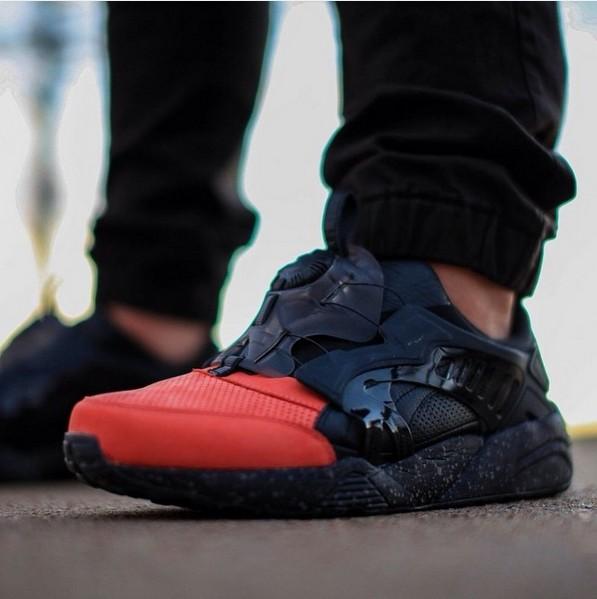 fbaa9985 тренд сезона 2016 мега модные мужские кроссовки черно-красного цвета новая  коллекция