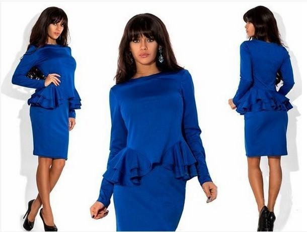 Синее платье новая коллекция