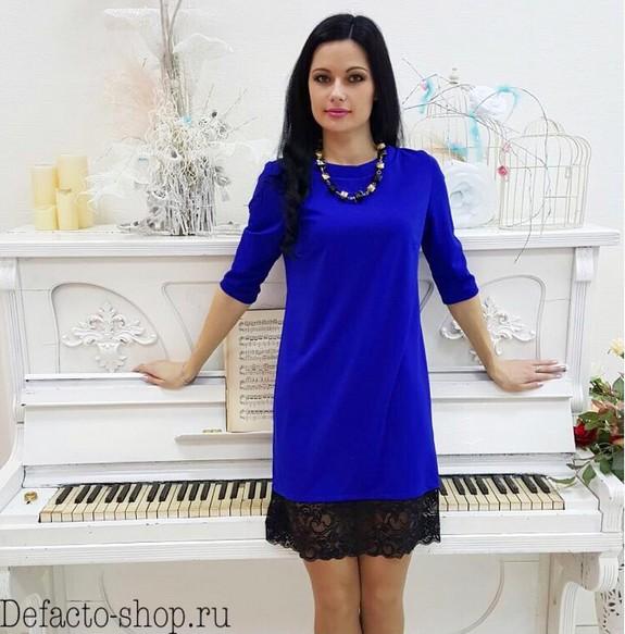 b70c9dd6f85 обаятельное платье синего цвета прямого кроя внизу черное кружево модель  2016