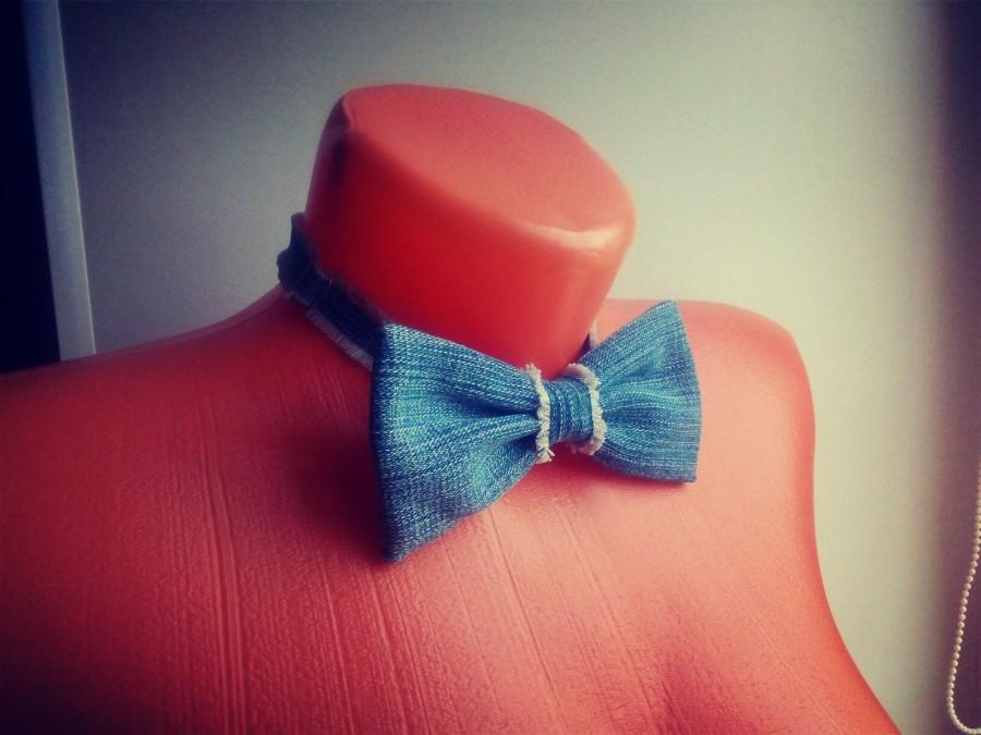 Как сделать галстук бабочку из джинс