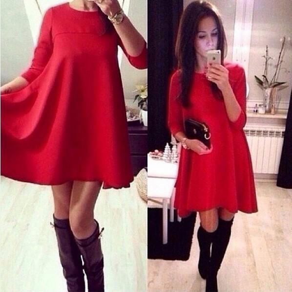 d7e6767e50b Купить прекрасное платье прямого кроя красного цвета по выгодной цене