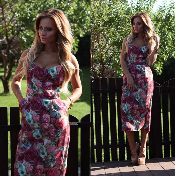 Платья с крупными розами