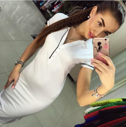 Купить эффектное платье поло tommy hilfiger белого цвета хорошего ... 4b47d542fd2cb