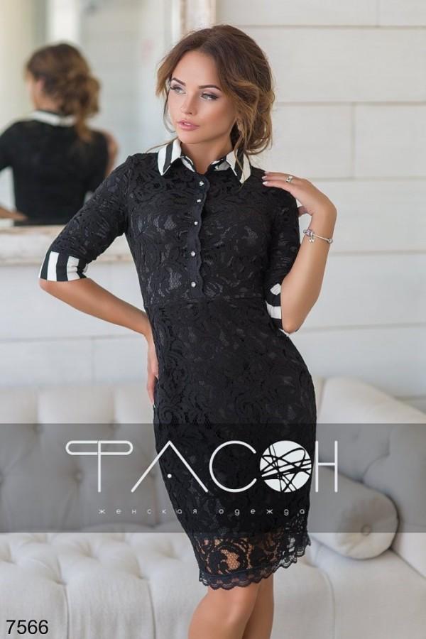 161b6aa38bd роскошное гипюровое платье черного цвета с воротником-стойкой хорошего  качества