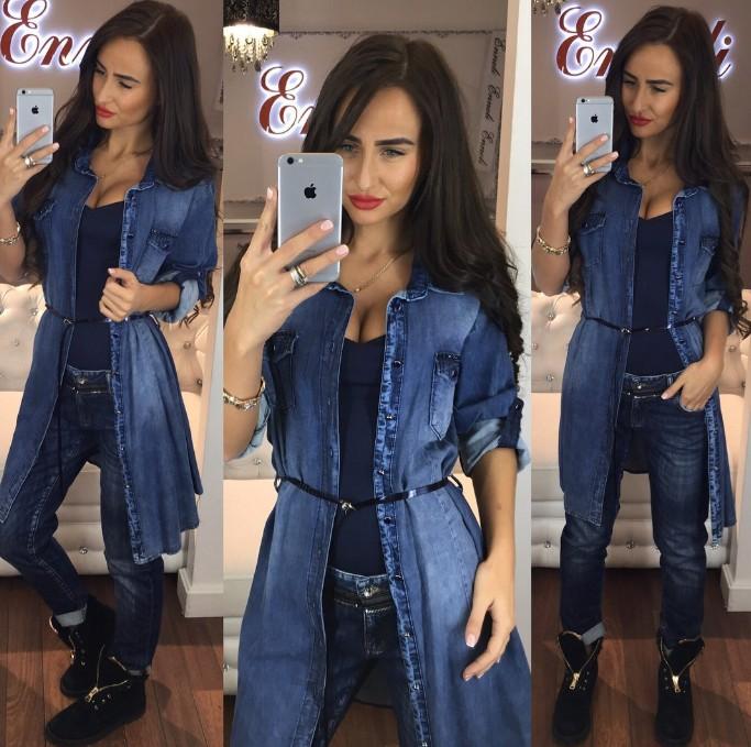 6b9a46f6cea модный джинсовый кардиган-платье на пуговицах новинка осень 2016 года