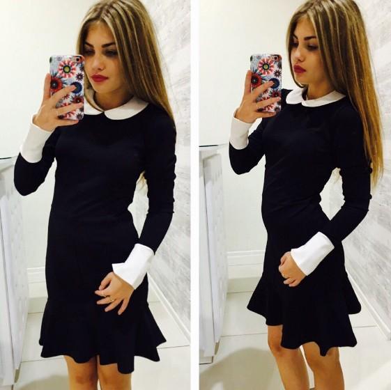 Платье С Белым Воротником Купить