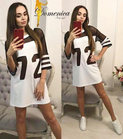 eed149d5b94 молодежное платье свободного кроя с вставкой из сетки хорошего качества
