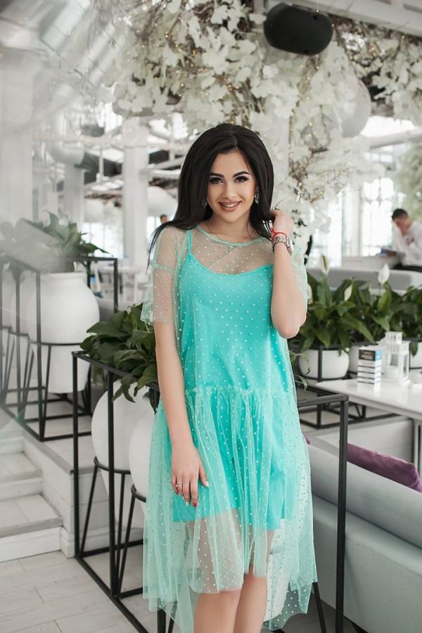 b757eb2219f7084 Купить платье 2в1: сарафан+накидка/сетка стоимость 3290.00 рублей с ...